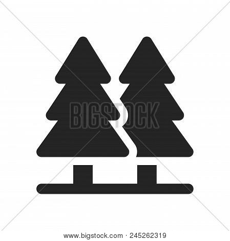 Pine Icon Simple Vector Sign And Modern Symbol. Pine Vector Icon Illustration, Editable Stroke Eleme