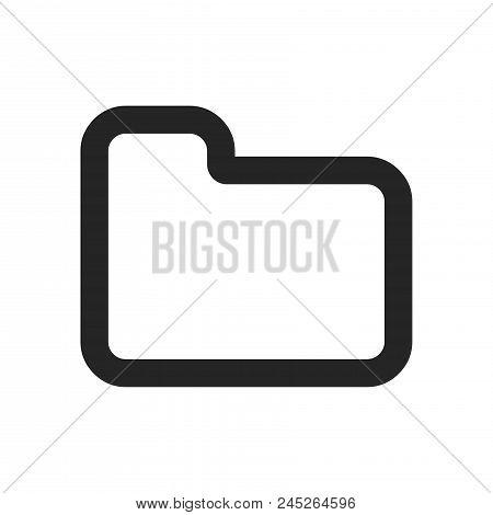 Folder Icon Simple Vector Sign And Modern Symbol. Folder Vector Icon Illustration, Editable Stroke E