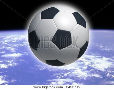 hi res image of classic soccer ball poster