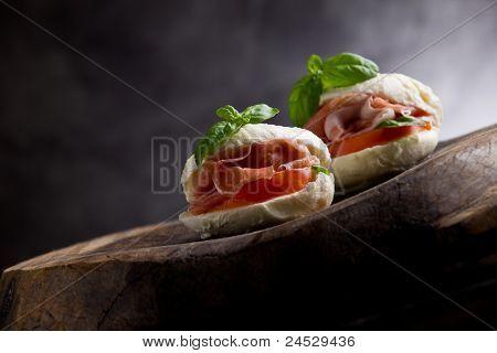 Stuffed Mozzarella Cheese With Bacon Inside