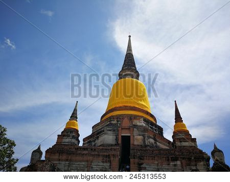 A Beautiful Thailand Temples, Pagodas And Buddha Statute In Old Historical's Thailand Country At