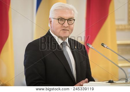 Kiev, Ukraine - May 29, 2018: Federal President Of The Federal Republic Of Germany Frank-walter Stei