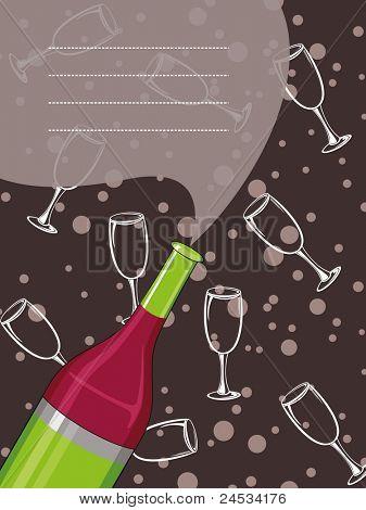 illustration for new year celebration