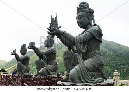 Bodhisattvas at Po Lin Monastery