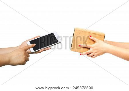 Mobile In Hand For Pay Online E Business.