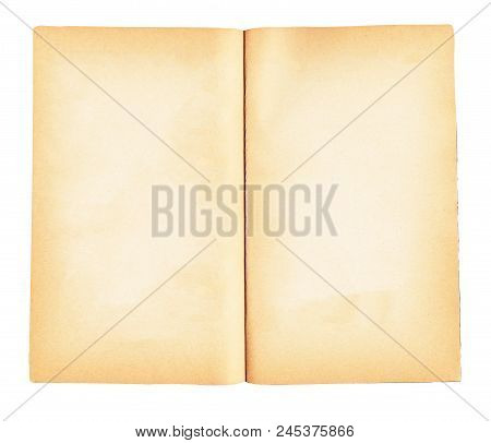 Book With Blank Pages Isolated On White Background.