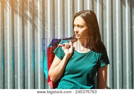 Attactive Shopaholic Woman