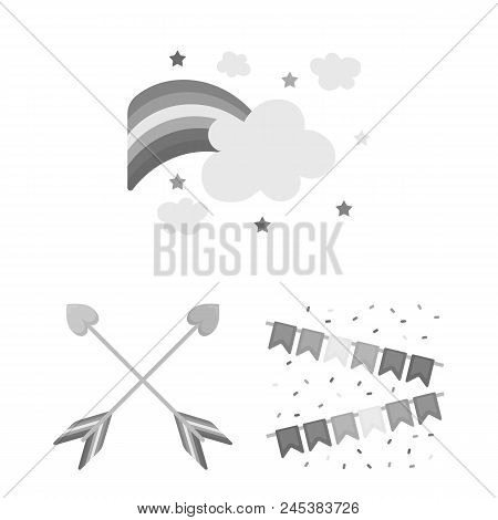 Gay And Lesbian Monochrome Icons In Set Collection For Design.sexual Minority And Attributes Vector