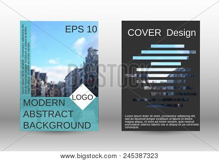 Modern Cover Design, Magazine Size A4.set Of Two Options. Future Vector Template For Creating A Fash