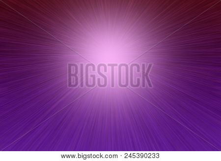 Bright Purple Rays Radiant Background With The Effect Of Light Banner With Copy Space For Your Text.