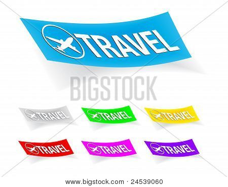 travel, stickers