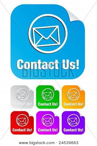 contact us,square stickers