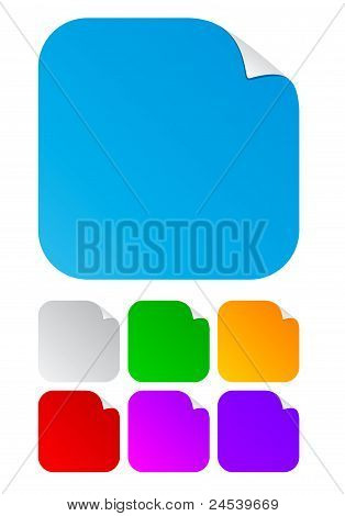 blank square stickers