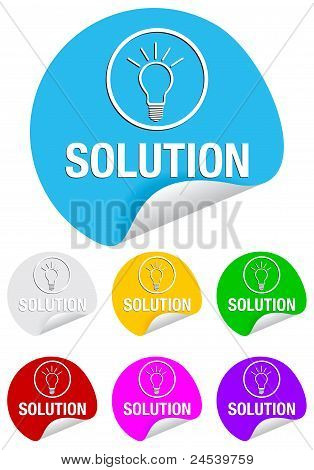 solution,round stickers