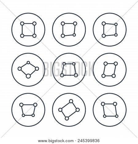 Perspective Icons On White, Eps 10 File, Easy To Edit