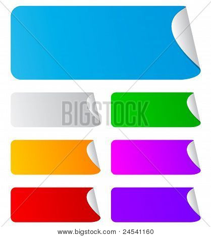 blank rectangular stickers