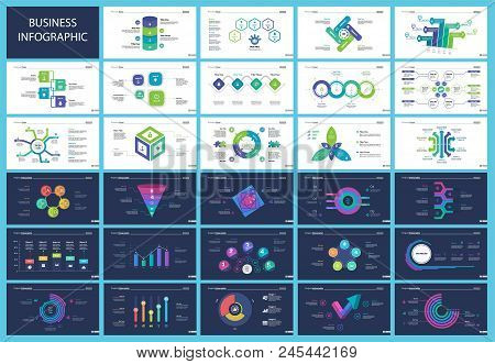 Informational Chart Design Set For Business Presentation Concept. Can Be Used For Workflow Layout, A