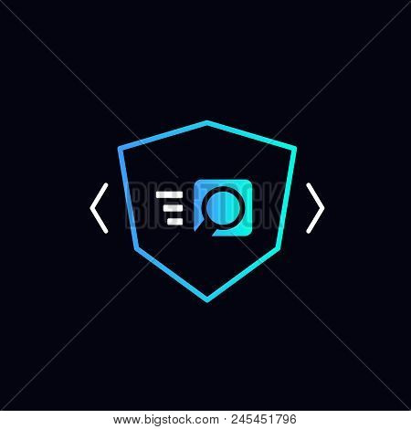 Quick Search Icon, Security Check Vector Illustration
