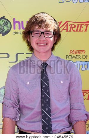 LOS ANGELES - OCT 22:  Angus T. Jones arriving at the 2011 Variety Power of Youth Evemt at the Paramount Studios on October 22, 2011 in Los Angeles, CA