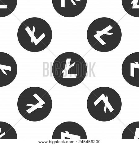 Cryptocurrency Coin Litecoin Ltc Icon Seamless Pattern On White Background. Physical Bit Coin. Digit