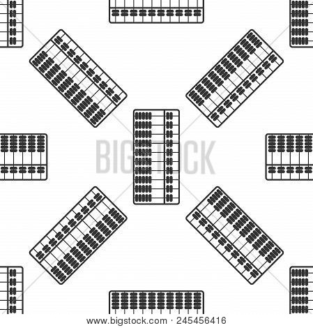 Abacus Icon Isolated On Grey Background. Traditional Counting Frame. Education Sign. Mathematics Sch