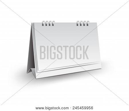 Blank Desk Calendar 3D Mockup Vector