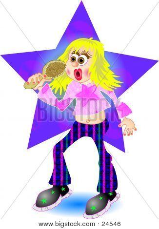 Wannabe popstar teen. poster