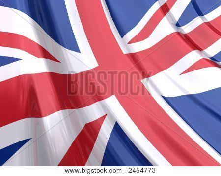 Glossy Flag Of United Kingdom