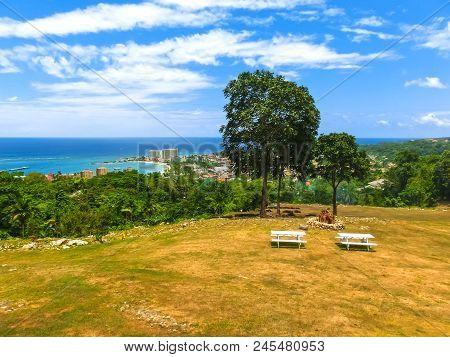 Jamaican Beach A. Caribbean Beach On The Northern Coast Of Jamaica, Near Dunn's River Falls And Ocho