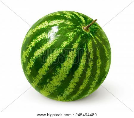 Sweet And Red Watermelon Isolated On White Background.