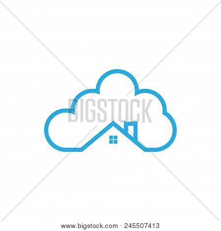 Illustration Of Cloud House Logo Icon Template