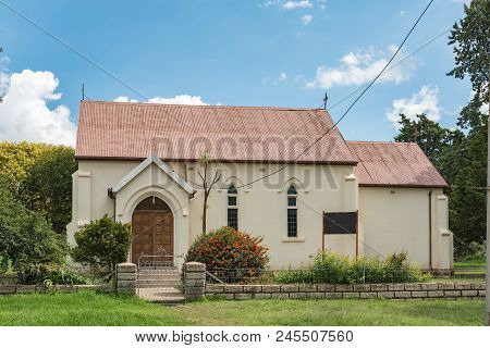 Zastron, South Africa - April 1, 2018: An Historic Church In Zastron In The Free State Province