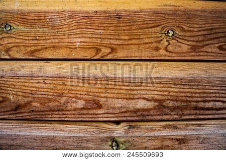 Empty Wooden Board Background. Dark Old Wooden Table Texture Background Top View. Brown Wooden Backg
