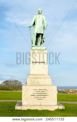 General Henry Havelock Statue (1795-1857), situated in Mowbray Park, Sunderland, Tyne & Wear poster