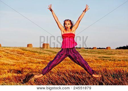 Pretty Jumping Girl