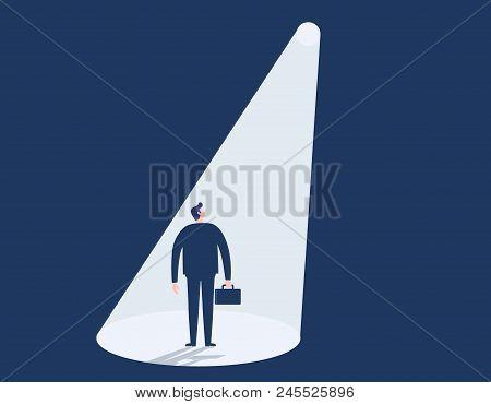 Hiring. Recruitment Business Concept. Picking Choosing. Hiring  Businessman. Vector Illustration Eps