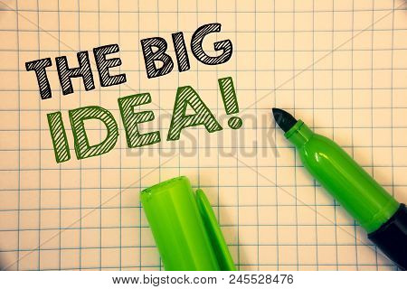 Words Writing Texts The Big Idea Motivational Call. Business Concept For Have A Successful Idea Smar
