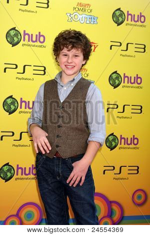 LOS ANGELES - OCT 22:  Nolan Gould arriving at the 2011 Variety Power of Youth Evemt at the Paramount Studios on October 22, 2011 in Los Angeles, CA