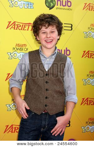 LOS ANGELES - OCT 22:  Nolan Gould arriving at the 2011 Variety Power of Youth Event at the Paramount Studios on October 22, 2011 in Los Angeles, CA