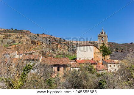 San Juan Bautista Church Of Santibanez De Ayllon Village In Castilla Y Leon, Spain