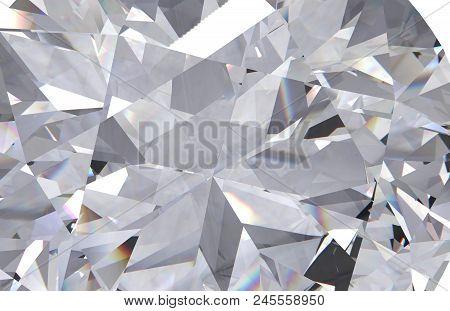 Abstract Geometric Diamond Multi Layered Background. 3d Render Model