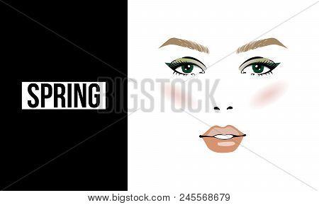 Make Up Stoel : Face makeup spring vector photo free trial bigstock