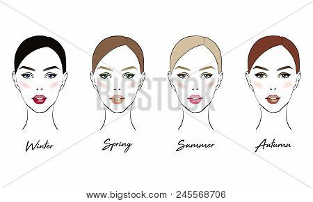Face Makeup Set Vector Photo Free