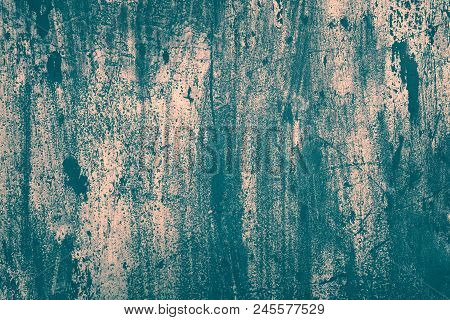Old Scratched Painted Metal Surface Texture. Shabby Retro Grunge Background