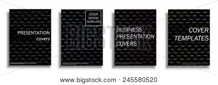 Vector Covers Collection, Business Covers Vector Set. Bright Covers Illustration Isolated Over White