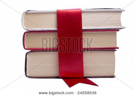 Books Wrapped In Red Tape