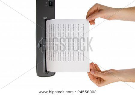 Hand And Paper Shredder