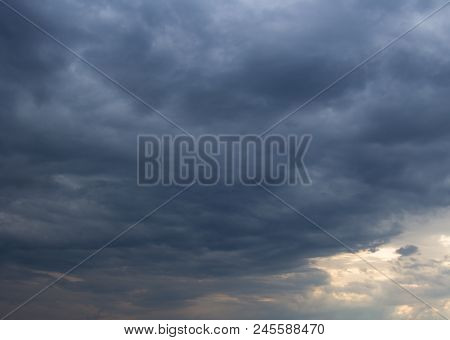 Storm Clouds. Dramatic Storm Clouds Background. Evening Clouds.