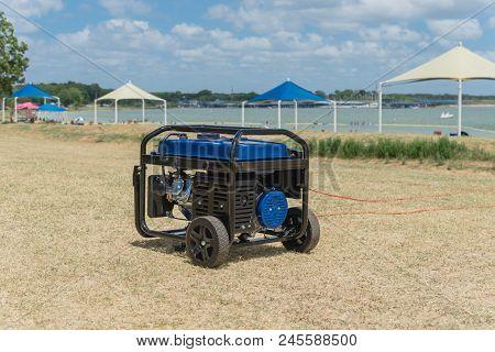 Portable Gasoline Power Generator And High Peak Frame Tent