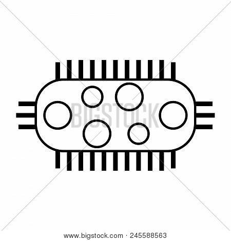 Bacteria Black Icon, Microbioorganisam Black Icon, Illustration